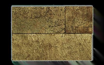 Muratto Cork Bricks 3D brown gold