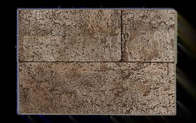 Muratto Cork Bricks 3D brown silver