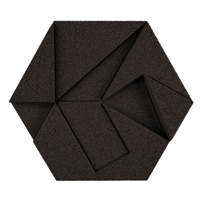Muratto Design blocks Hexagon black