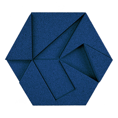 Muratto Design blocks Hexagon blue