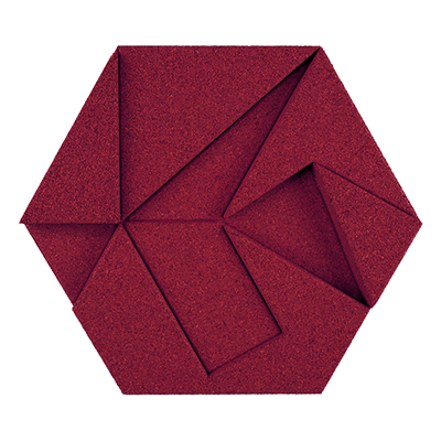 Muratto Design blocks Hexagon bordeaux