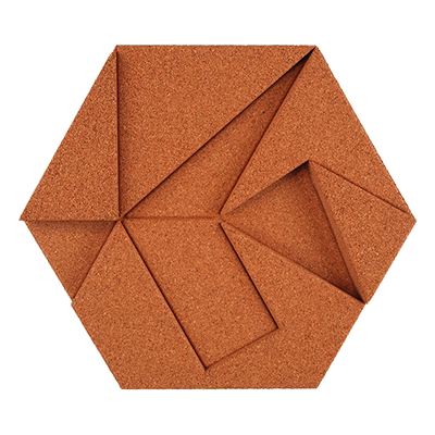 Muratto Design blocks Hexagon copper