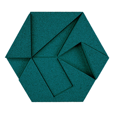 Muratto Design blocks Hexagon emerald