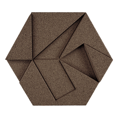 Muratto Design blocks Hexagon taupe