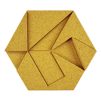 Muratto Design blocks Hexagon yellow