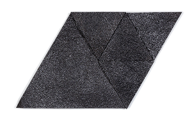 Muratto Korkstone Triangle Black Silver